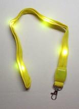 LED Blinking Light Up YELLOW LANYARD KEY CHAIN Ring Keychain ID Holder NEW - $14.99