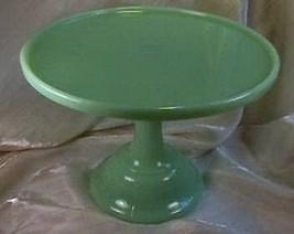 "9"" Pedestal Plain & Simple Cake Plate Jadeite Glass Jadite Salver  - $36.45"