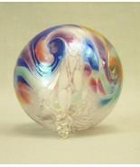 "Studio Art Glass Ornament 3.25"" d globe ball hand blown Robert R W Steph... - $42.75"