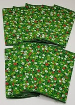 Floral Cloth Napkins lot of 12 Spring Summer Pattern Small 9x6  - $12.95