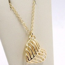 SILVER 925 NECKLACE, HEART DOMED AND PERFORATED PENDANT, BY MARY JANE IELPO image 2