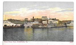 Norfolk VA Water Front View Vintage A C Bosselman UDB Postcar - $4.99