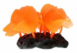 Vitality SH136 Faux Coral Aquarium Decorating Ornament New, Orange