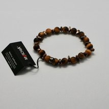 Silver Bracelet 925 Hematite Tiger's Eye BWI-2 Made in Italy by Maschia image 2