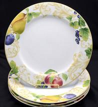Lenox Garden Mural * 4 DINNER PLATES * Fruit & Leaves, EXC! - $54.44
