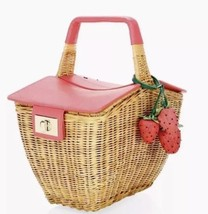 Kate Spade Picnic Perfect 3D Wicker Strawberry Picnic Basket, NWT, SOLD ... - £387.67 GBP