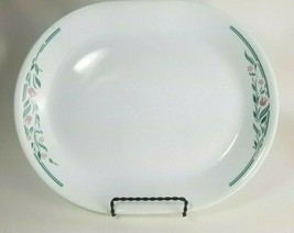 "Corelle ROSEMARIE Serving Platter Pink Tulips With Teal/Green Leaves 12-1/4"" - $11.83"