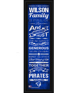 "Personalized Seton Hall ""Pirates"" 24 x 8 Family Cheer Framed Print - $39.95"