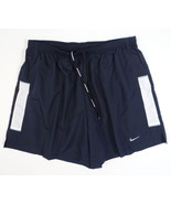 Nike Dri Fit Navy Blue & White Brief Lined Running Shorts Men's NWT - $33.74