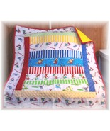 Cueious george 4rows patchwork quilt3 thumbtall