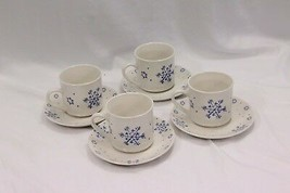Gibson Xmas Cups Saucers Snow Festival Lot of 8 - $29.39