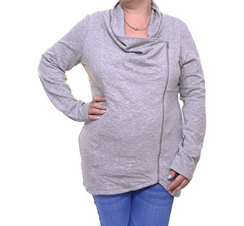 INC International Concepts Women's Draped Zipper Sweater Size L
