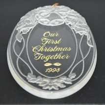 Hallmark Keepsake Ornament Engraved 1998 Our First Christmas Together QX... - $4.21