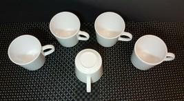 French White Corning Ware Coffee Mugs (5) - $21.77