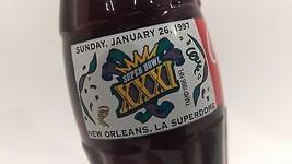 1997 Super Bowl XXXI New Orleans Coca-Cola Coke Bottle  - $17.82