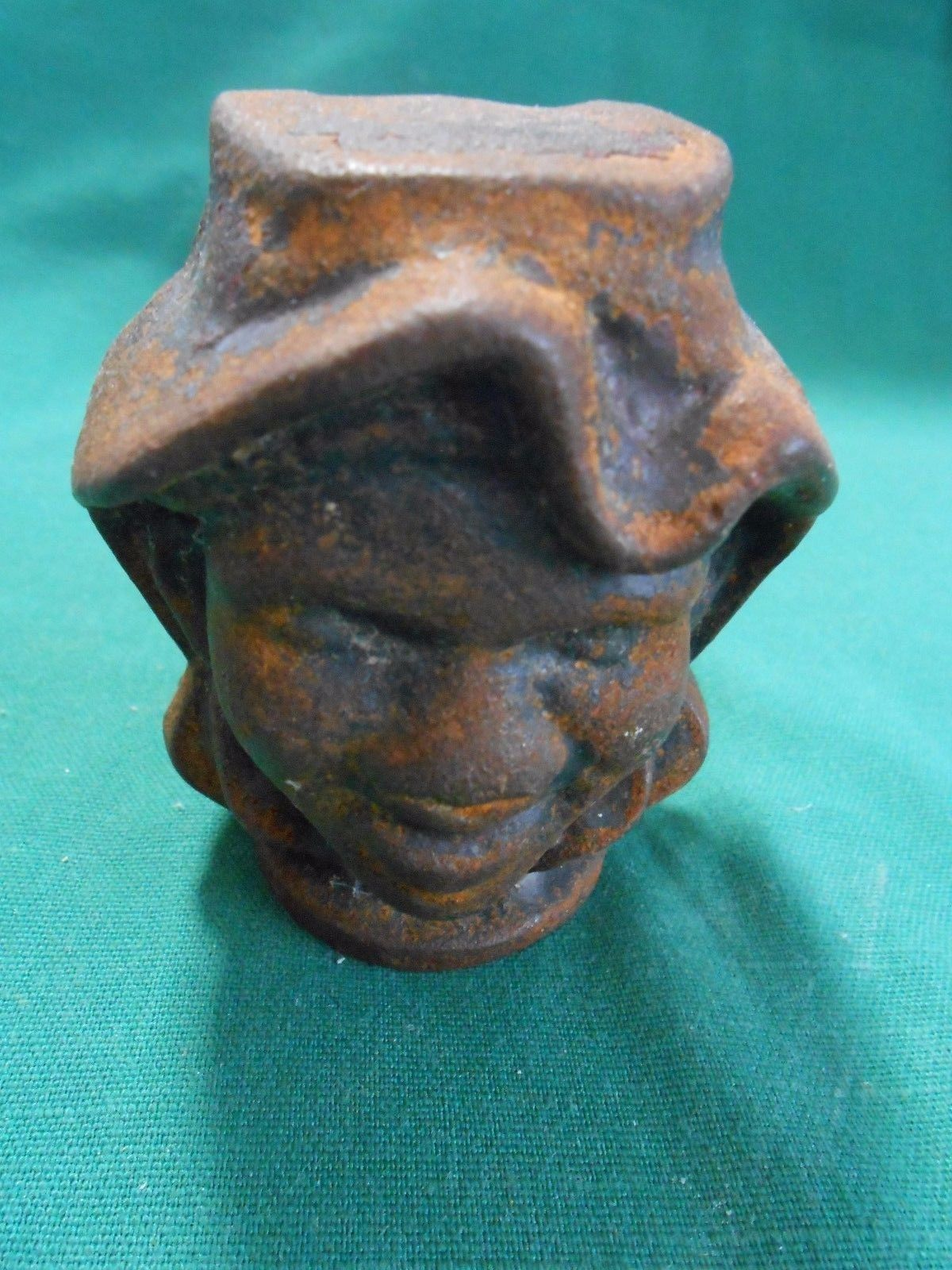 "RARE Collectible ANTIQUE Cast Iron DOUBLE FACE ""Black Boy"" Coin Bank 1900's"