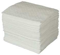 "SPC BPO100 BASIC Oil Only Heavy Weight Pad White 15"" L x 17"" W 100 Per Bale - $50.91"