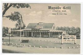 Wayside Grill Littleton Massachusetts 1949 postcard - $6.44