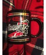 Vintage NHRA CHAMPIONSHIP DRAG RACING MUG Ceramic  Racing at the Edge Bl... - $19.39