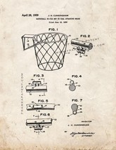 Basketball Net Patent Print - Old Look - $7.95+