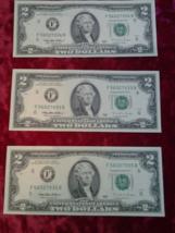 Two Dollar Bills 1995, Lot of 3, Crisp & Flat Excellent,  - $11.99