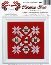 Christmas Bear Nordic Needle Hardanger Pattern Leaflet - $3.57