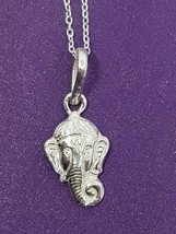 Ganesh Ganesha Hindu God Sterling Silver Pendant & Chain, Boxed - $25.38