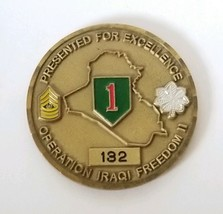 US Army Challenge Coin 132 Operation Iraqi Freedom II 1-18 Infantry Vanguards  - $16.78