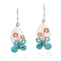 Enamored Radiant Butterfly White Mother Of Pearl .925 Sterling Silver Da... - $51.97