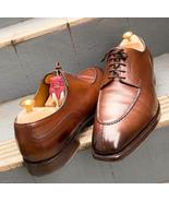 Men's Brown Customize Split Toe Leather Lace Up Shoes - $158.99