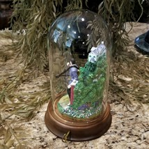Franklin Mint Elvis Presley Graceland Love Me Tender Music Box Glass Dome Figure image 2