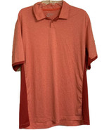 Nike Golf Tour Performance Dri-Fit Polo Orange Red Men's XL - $13.99