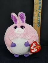 "TY Easter Bunny Rabbit Carnation Pink Purple Beanie Ballz Plush Stuffed 5"" Soft image 2"