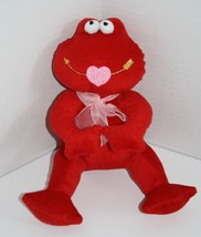 "Sugar Loaf FROG 10"" Red Long Legs Plush Valentines Stuffed Toy Pink Heart Mouth - $12.17"