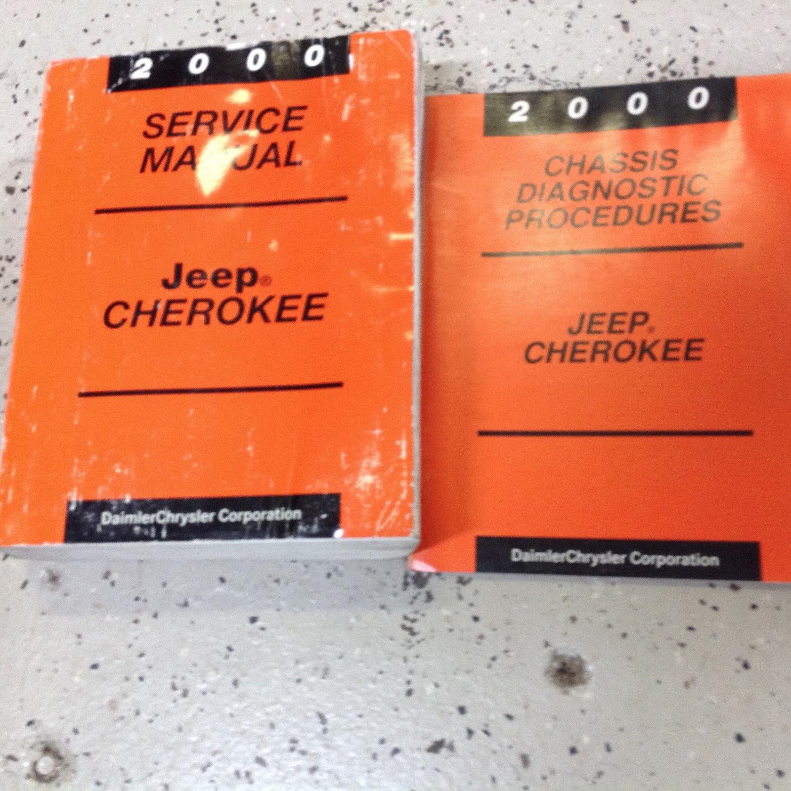 2000 JEEP CHEROKEE Service Repair Shop Manual Set W Chassis Diagnostic Book  OEM