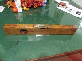 "Vintage Level Sargent & Company, NY 18"" - Wood and Brass great condition - $21.77"