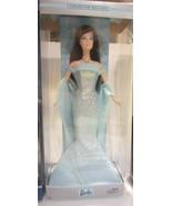 Barbie Birthstone Collection March Aquamarine Brunette NRFB - $56.95