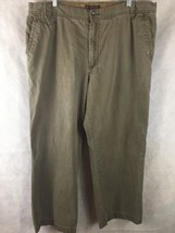 Old Navy Loose Fit Olive Green Casual Pants Size 41 X 30 100% Cotton - $14.80