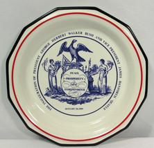 Pfaltzgraff American Bicentennial Presidential Inaugural Plate 1989 Bush Quayle - $19.79