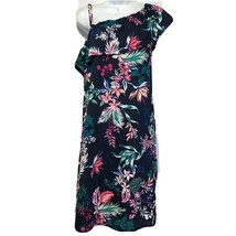 Joe fresh off the shoulder Tropical floral Hawaiian dress Size M - $17.07