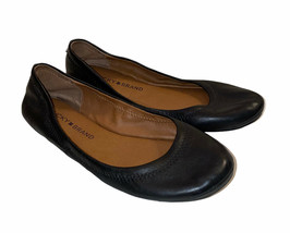 Lucky Brand Black Leather Emmie Ballet Flats Women's Size 6.5M - $18.99