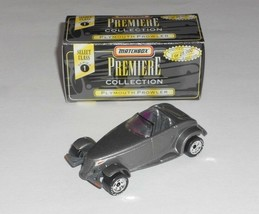 Matchbox 1 Loose Vehicle Premiere Collection Plymouth Prowler Mtflk Grey w/ Box - $4.00