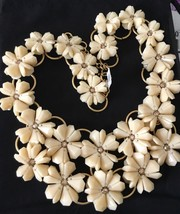 NWT J. Crew Lucite Petinia Floral Statement Necklace NEW Dusty Ivory G6319 - $55.99