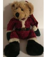 """Russ Berrie 15"""" RARE Santa Bear Bean Paws & Tush Plush Vintage Stuffed A... - $23.98"""