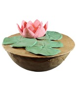 Biodegradable Lotus Urn, Hand Made Adult/Companion Funeral Cremation Urn - $289.99