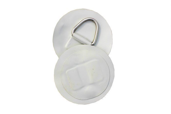 2 X INFLATABLE BOAT STAINLESS STEEL D-RINGS PVC PATCH