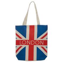 Shopping Bag ~ Cotton Zip Up - London Union Jack - Reusable - $10.39