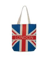 Shopping Bag ~ Cotton Zip Up - London Union Jack - Reusable - $10.10