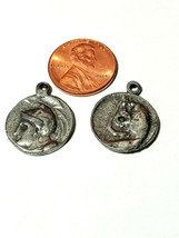 ANCIENT COIN FINE PEWTER PENDANT CHARM 2x22x18mm image 2