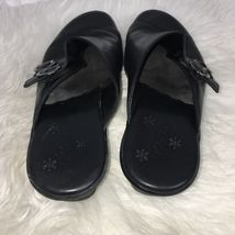 Black Clarks Womens 8 Mules Leather M 5 Clogs 359 Size gqOqxw1